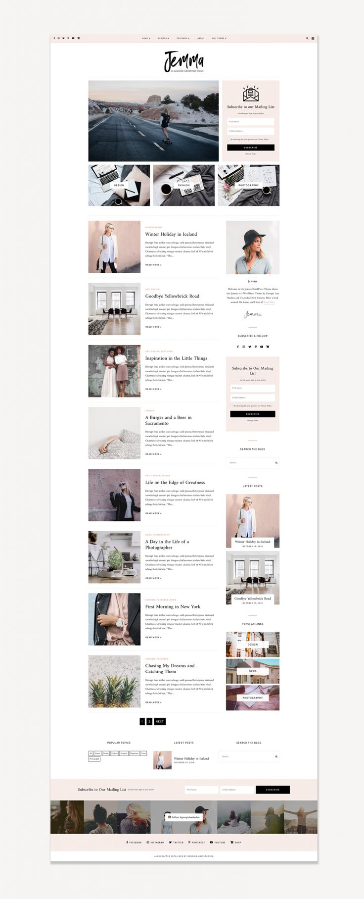 Jemma WordPress Theme by