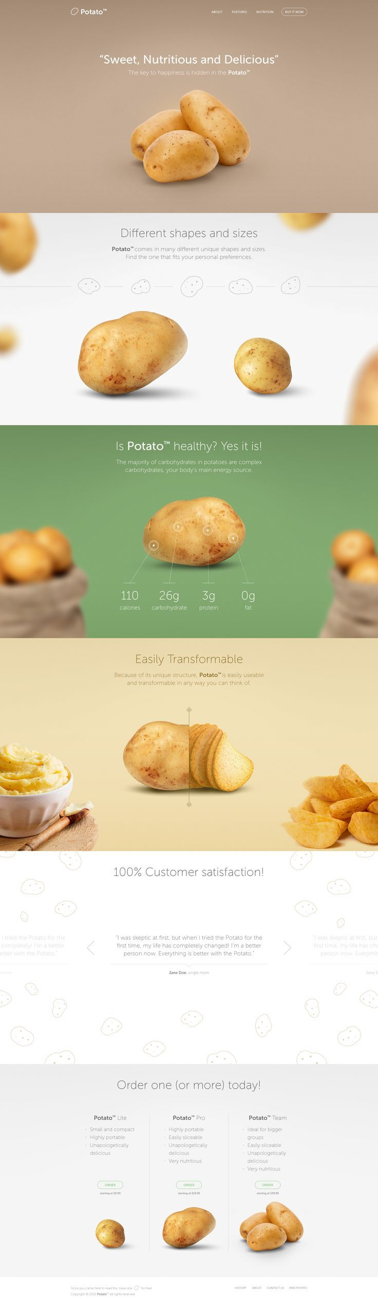 Potato. Finally, an official site for potato. #webdesign #design (View more at w...